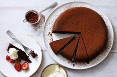 This rich and indulgent chocolate fudge cake recipe is the perfect baking idea for a special occasion. Find lots more Chocolate cake recipes at Tesco Real Food. Chocolate Olive Oil Cake, Chocolate Fudge Cake, Flourless Chocolate Cakes, Chocolate Recipes, Chocolate Orange, Delicious Chocolate, Best Cake Recipes, Dessert Recipes, Free Recipes