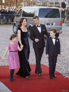 The Danish Royal family attends a Gala Night to mark the forthcoming 75th Birthday of Queen Margrethe II of Denmark at Aarhus Concert Hall on April 8, 2015 in Aarhus, Denmark