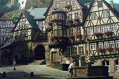 Tour along cobble-stone streets lined with gabled, half-timbered houses in Miltenberg, Bavaria, Germany www.celtictours.com/stw/STWProduct.aspx?=CELTIC=EU-RIV-MAGEUR-B2A#