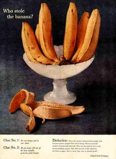 Who stole the banana? via #ChiquitaBanana