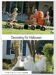 Looking for some cute ideas to decorate your yard for Halloween? I absolutely LOVE this yard in my neighborhood!
