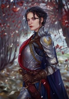 ArtStation - grey warden, Anna Helme female knight / fighter for fantasy gaming with intricate armour Dnd Characters, Fantasy Characters, Female Characters, Fantasy Warrior, Woman Warrior, Dragon Age, Fantasy Inspiration, Character Inspiration, Character Portraits