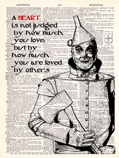 Wizard Of Oz Tin Man Heart Quote Dictionary by TheRekindledPage