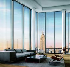 The most amazing modern living room inspiration for your NYC apartment! New York Apartment Apartamento Penthouse, Apartamento New York, City Living, Home And Living, Living Spaces, Modern Living, Living Rooms, Minimalist Living, Architecture Design
