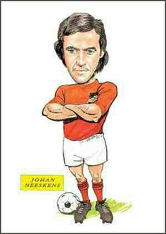 Johan Neeskens of Holland in cartoon mode.
