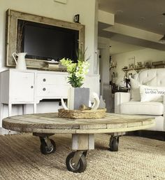 Easy to Make Industrial Spool Table
