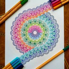 Self-taught artist Meliany Surya's ( mandala and doodle artworks combine color, lines, patterns and geometry in fresh and… Dibujos Zentangle Art, Zentangle Drawings, Zentangle Patterns, Doodle Drawings, Doodle Art, Art Patterns, Zentangles, Mandala Artwork, Mandala Drawing