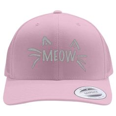 Meow Retro Trucker Hat is professionally designed and embroidered in U.S. Find other animals & nature designs or create your own custom hat. This custom design is all about meow, cat, cat-clothing, meow-clothing, animal, animals, animals-nature, nature. This is one of our best sellers as a unique gift for Father's Day, Valentine's Day, Christmas, birthdays, anniversaries, parties, special events and any occasion. It's available on baseball, snapback, trucker, bucket, beanies,...