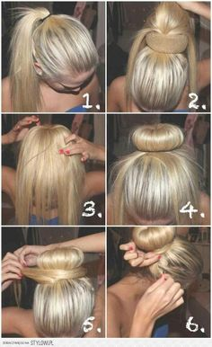 How to create a fuller bun for people with thin hair.