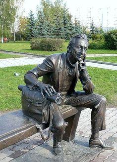 Памятник архитектору. Зеленоград. Россия.