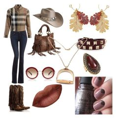 """""""Cowgirl glam"""" by boiicosmetics on Polyvore featuring Bailey Western, Burberry, Paige Denim, Natures Jewelry, Valentino, Samantha Wills and Roberto Coin"""