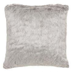 Silver Fox Faux Fur Toss 20x20