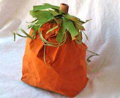 Paper Bag Pumpkin for fall!
