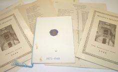 1940s Bellevue Hospital Nurses School Ephemera Vtg Pamphlets RN Nursing Alumni