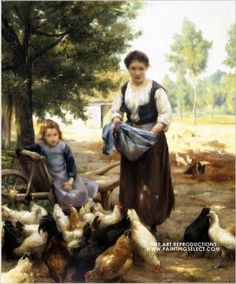 """Feeding the Chickens"" by  Julien Dupre"