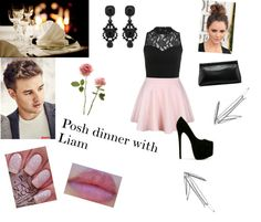 """Posh dinner with Liam"" by melisk95 ❤ liked on Polyvore"