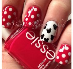 14 Ingenious Mickey Mouse Nail Art Designs In 2018 Nails