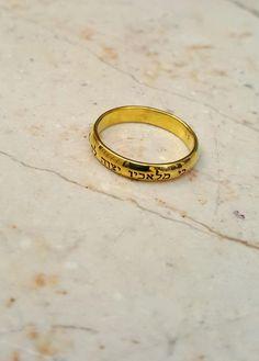 Jewish star ring Hebrew ring Spiral silver ring