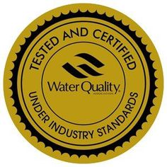Make sure that the water you drink has the gold seal water quality seal of approval.