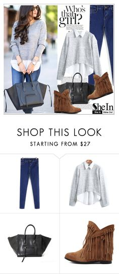 """""""Shein.com 4"""" by aida-nurkovic ❤ liked on Polyvore featuring Anja, CÉLINE and Sheinside"""