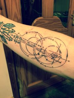 Abstract geometric guitar tattoo - just got it done the other day :)