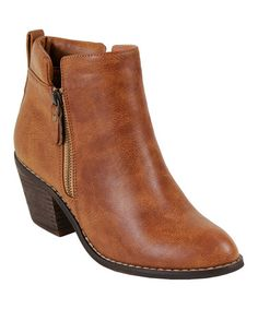 Look what I found on #zulily! Camel Polo Bootie #zulilyfinds