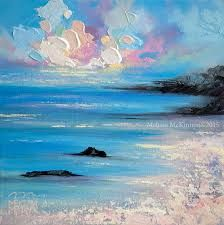 Image result for abstract sunset paintings