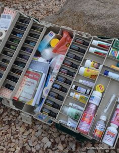 DIY Camping Hacks - Tackle Box First Aid Kit - Easy Tips and Tricks, Recipes for Camping - Gear Ideas, Cheap Camping Supplies, Tutorials for Making Quick Camping Food, Fire Starters, Gear Holders and More http://diyjoy.com/camping-hacks
