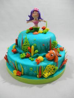 MERMAID AND NEMO CAKE TORTA DE SIRENA Y NEMO