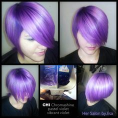 CHI Chromashine Pastel Violet and Vibrant Violet by hersalonbylisa #CHIcolor