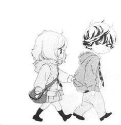 animé, chibi, couple, savon, dessiné, dessin, sentiment, embrassades, kawaii, amour, exquis, manga, monochrome, timidité