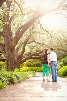 Engagement : Fort Worth : Botanical Gardens : Background