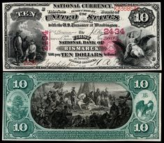 Art and engraving on United States banknotes - Wikipedia Disney Activities, Get A Loan, Old Money, North Dakota, Coin Collecting, Blog, Typography, United States, Usa