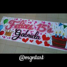 Resultado de imagen para de pancartas de 15 años Diy Birthday, Birthday Gifts, Happy Birthday, Weird Gifts, Origami, Friends In Love, Ideas Para, Diy And Crafts, Birthdays