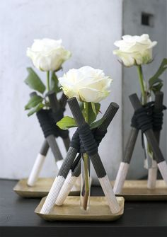 Make your own mini wigwam for your rose
