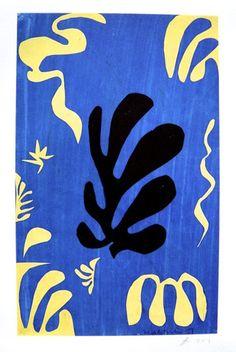 "Henri MATISSE, signed Heliolitho ""Composition bleue"" 1953"