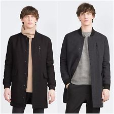 ZARA Man BNWT Black Or Dark Grey Wool Long Bomber Jacket Coat S M L 4391/450  $86.46    End Date:  May-21 10:21   Buy It Now for only: US $86.46  Buy it now    |  http://bayfeeds.com/ebayitem.php?i=182031664127&u=3464&f=3228