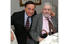 Robert Sherman(right)just passed away.He and his brother Richard wrote songs for Disney for over 40 years.You will be missed. Sherman Brothers, Musical Film, Film Score, Amazing Man, Julie Andrews, Aristocats, Mary Poppins, 40 Years, A Good Man