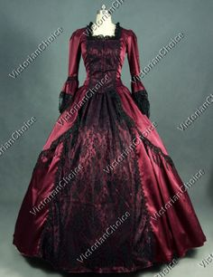 Marie-Antoinette-Victorian-Prom-Lace-Dress-Gothic-Gown-Theater-Reenactment-142