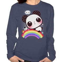 graceful shop Cute Panda Bear T-Shirt