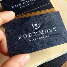 Clear Foil and Gold Metallic Business Cards // Foremost Wine Company… Foil Business Cards, Business Card Maker, Real Estate Business Cards, Black Business Card, Unique Business Cards, Business Card Design, Business Ideas, Corporate Design, Branding Design