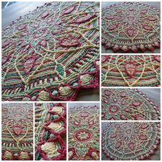 Sunrise overlay crochet mandala by tintocktap, via Flickr - Ravelry link