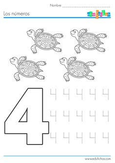 Tracing worksheet: Number 7. Download, print and trace