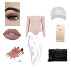 """""""day out:)"""" by hello21-ii ❤ liked on Polyvore featuring Boohoo, adidas, MICHAEL Michael Kors and Topshop"""