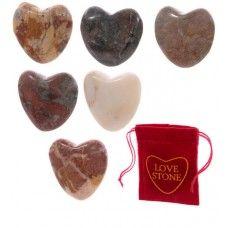 Stenen hart (gemstone) in cadeautas