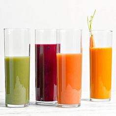 Best juice recipes from BHG. Beautiful colors!