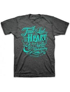 """Trust in the Lord"" Kerusso Short Sleeve Women's Dark Gray T-Shirt – Sharing Our Faith"