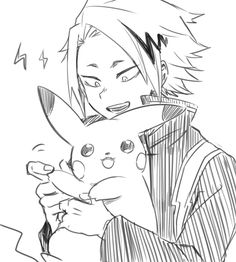 Anime Character Drawing, Cute Anime Character, Anime Drawings Sketches, Anime Sketch, Hero Academia Characters, My Hero Academia Manga, M Anime, Anime Art, Human Pikachu