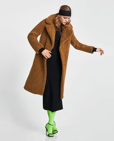 ZARA - NEW COLLECTION - LONG TEXTURED COAT