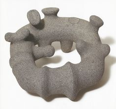 This piece is by Isamu Noguchi, who died in 1988 -- another possible inspiration other than Arp?